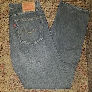 Black pair of Levi 514 Jeans